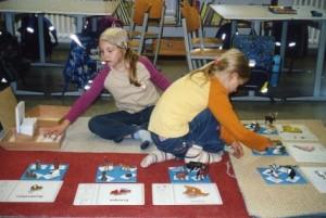 Arbeiten mit dem Erdteilpuzzle (Kosmische Erziehung)